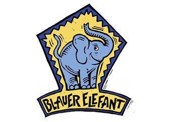 Blauer Elefant Logo
