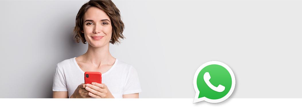 Jetzt auch auf Whatsapp erreichbar