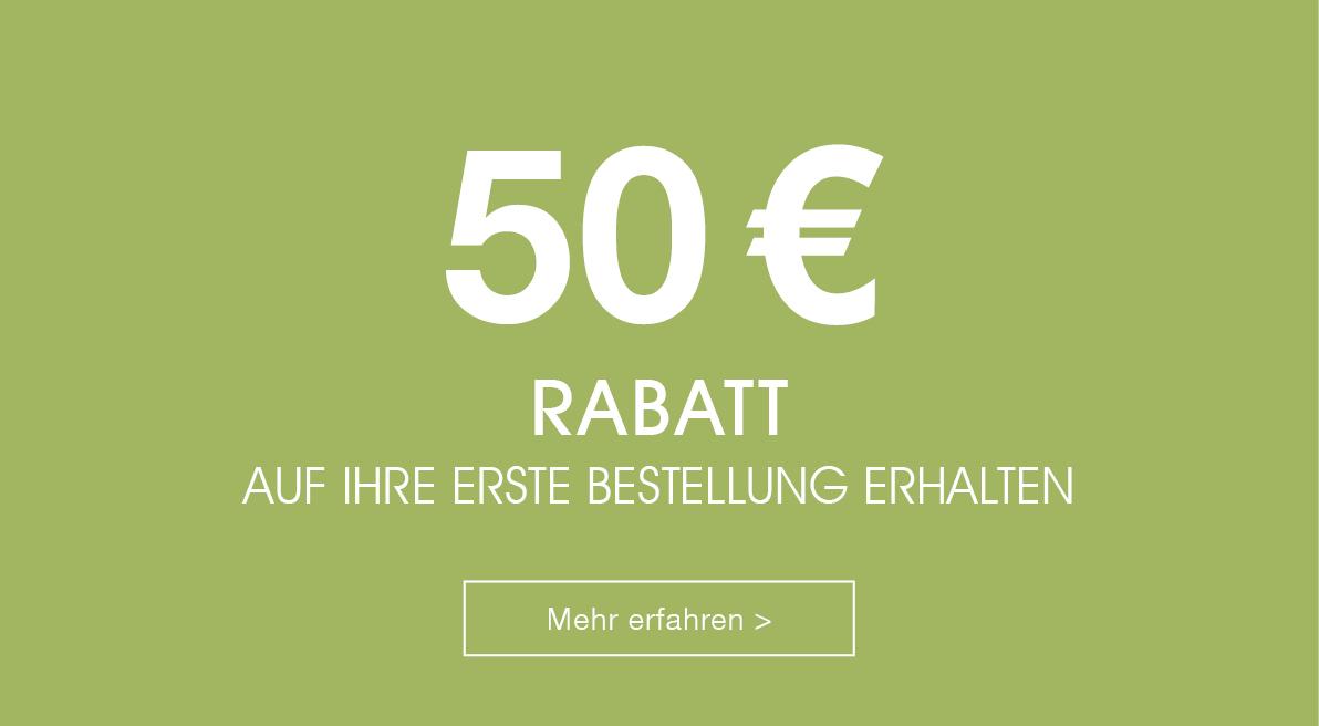 50 euro willkommensrabatt