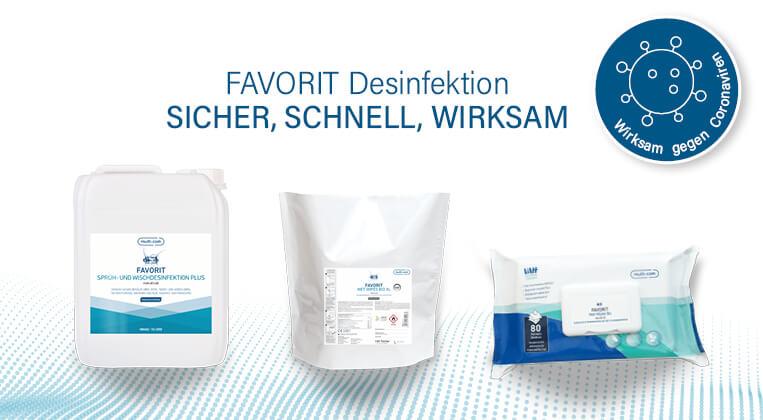 Umfassend wirksam: FAVORIT Desinfektionsproduktee