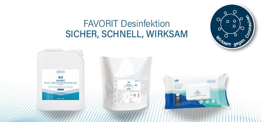Umfassend wirksam: FAVORIT Desinfektionsprodukte